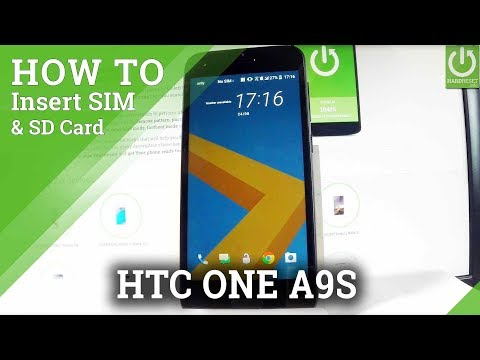 Insert SIM and SD in HTC One A9s - Install Nano SIM & Micro SD Card