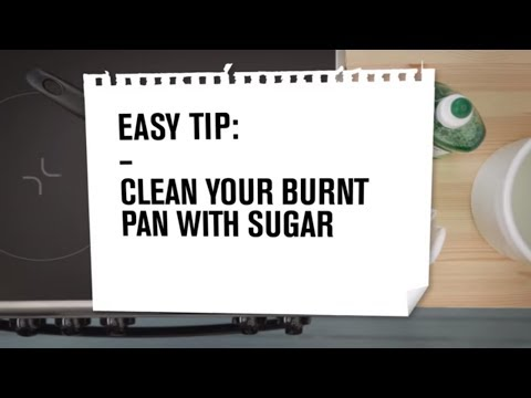 Zanussi Easy Tips: Clean your dirty pan with sugar