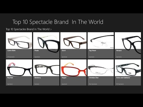 Top 10 Spectacle Brands in the World