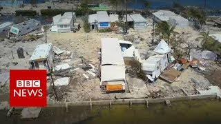 Florida Keys: Drone video shows devastation from Irma - BBC News