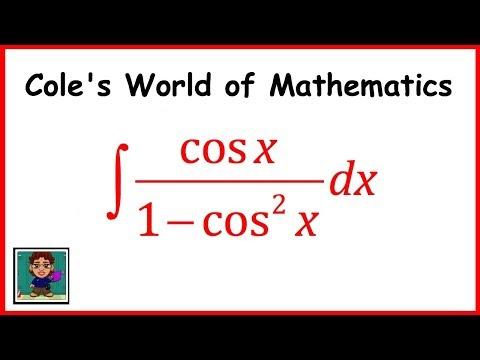 Integral of (cos x)/(1 - cos^2x) ❖ Calculus 1 ❖ Trig Integrals