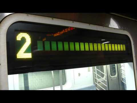 IRT Lenox Avenue Line: 34th St-Penn Station bound R-142 2 express train @ Central Pk North-110th St!
