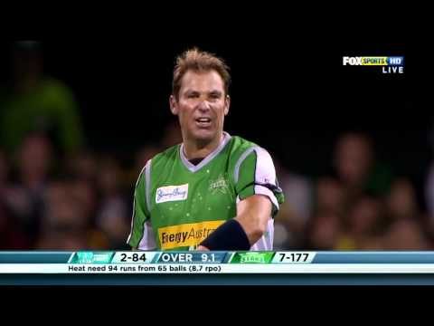 Warnie commentating his wicket of BBL Match 5 against Brisbane Heat