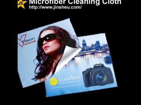 Logo printed Microfiber cleaning cloth lens