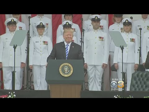 President Donald Trump Gives Speech On Memorial Day