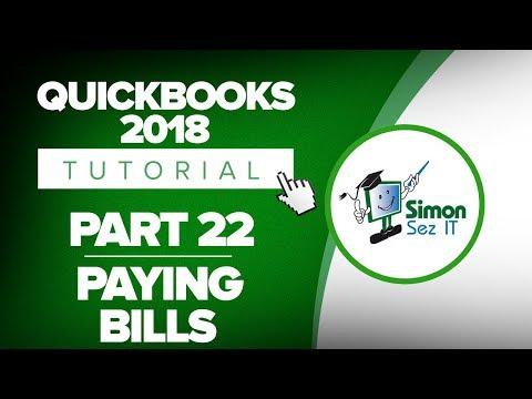 QuickBooks 2018 Training Tutorial Part 22: How to Pay Bills for Vendors in QuickBooks 2018