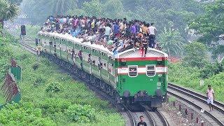 Overloaded Eid Festival time Train- Ekota Express of Bangladesh Railway