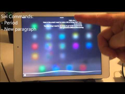 ipad tutorial creating, writing and sending an email only using Siri by Voice