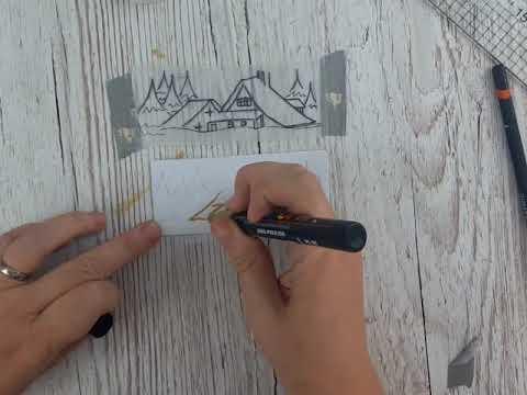 Draw a Simple Snow Scene