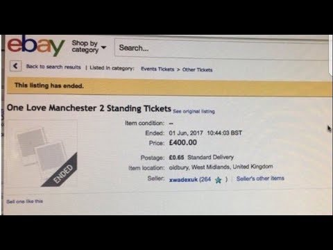 eBay Suspends Sellers Who Sell Tickets of Ariana Grande Manchester Concert