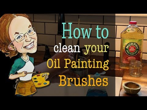 How to clean your oil painting brushes properly and quickly.