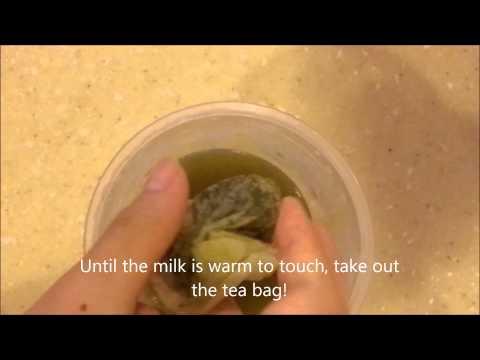 How to make green tea milk shake !