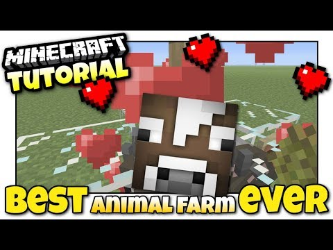 Minecraft Xbox - AUTOMATIC ANIMAL FARM [ Best Ever ] Redstone Tutorial - PE / PS4 / PS3 / Switch