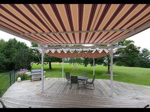 Retractable Fabric Pergola Canopy & Tension Shade