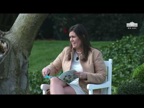 White House Easter Egg Roll: Reading Nook with Press Secretary Sarah Sanders