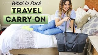 What To Pack: CARRY-ON LUGGAGE