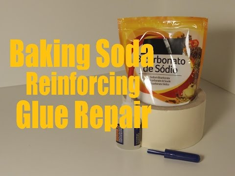 Baking Soda Reinforcing Glue Repair