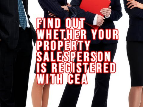 Find out whether your Property Salesperson is registered with CEA