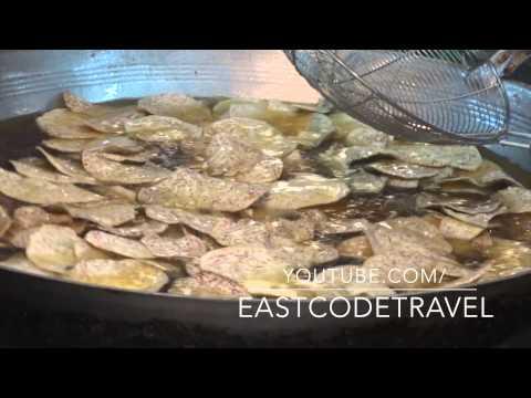 fried big slice Taro Kanchanaburi ,Thailand