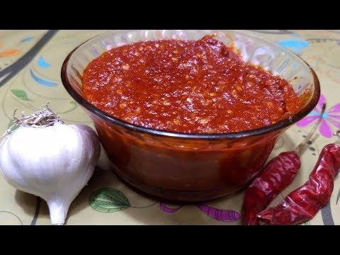 Schezwan sauce recipe | schezwan chutney recipe