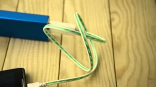 Usb Cable For Iphone5 Ipad4 / Mini El Illuminated Green Led Charge & Data Sync -2