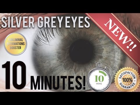 🎧 GET STUNNING SILVER GREY EYES IN 10 MINUTES! SUBLIMINAL AFFIRMATIONS BOOSTER! REAL RESULTS DAILY!