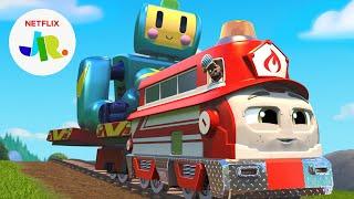 Stop the Giant Robot! 🤖 Mighty Express Season 5 Sneak Peek   Netflix Jr