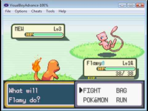 Pokemon Leafgreen/Firered Easy cheats to catch Mew and Mewtwo in the grass!!!