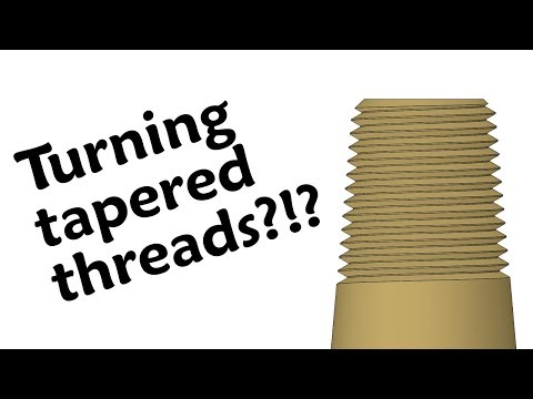 Turning tapered threads