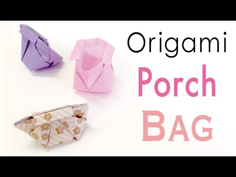 Origami Paper Bag✨Makeup Case✨ Vanity Porch♡ - Origami Kawaii〔#147〕