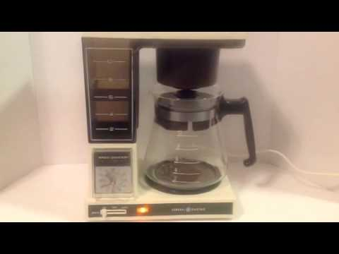 Vintage General Electric Brew Starter Coffeemaker GE Clean Tested Working