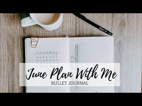 Plan With Me | June 2018  Bullet Journal | Minimalist Planning