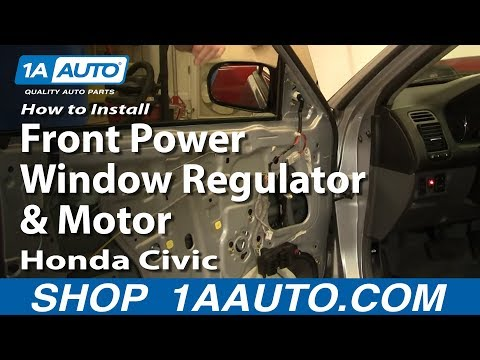 How To Install Replace Front Power Window Regulator and Motor Honda Civic 01-05 1AAuto.com
