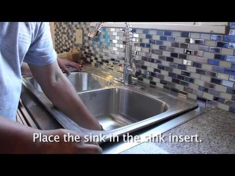 Kitchen Granite with Stainless Steel Sink Insert   Installation   Vima Decor