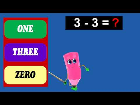 Interactive Math Quiz | Subtract 3 Table - 1 To 5 | Kids Tutorial