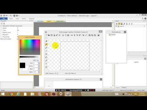 Construct 2 lesson 2 - Resizing layout/window, shooting bullets