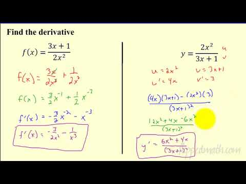 Calculus - Product and Quotient Rule