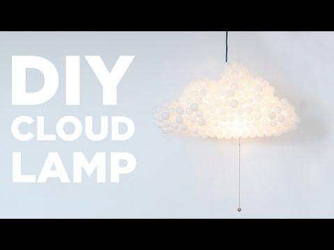 DIY Cloud Lamp Made From Ping Pong Balls