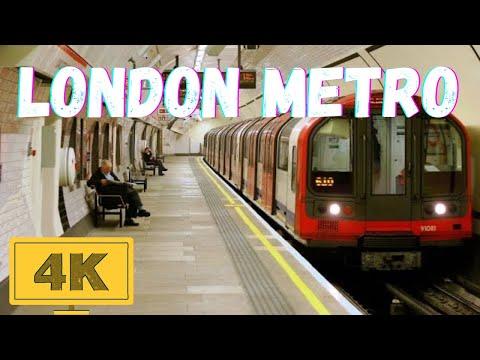 Underground Tube London Metro Railway in 4K