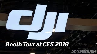 DJI booth tour at CES 2018