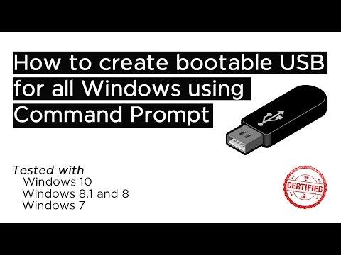 How to create Bootable USB for all Windows using CMD