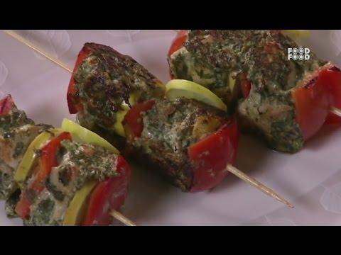 Sanjeev Kapoor Kitchen | Palak Murgh Kabab Recipe | Master Chef Sanjeev Kapoor