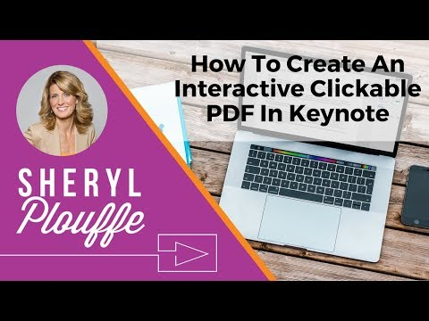 How To Create An Interactive Clickable PDF In Keynote Video