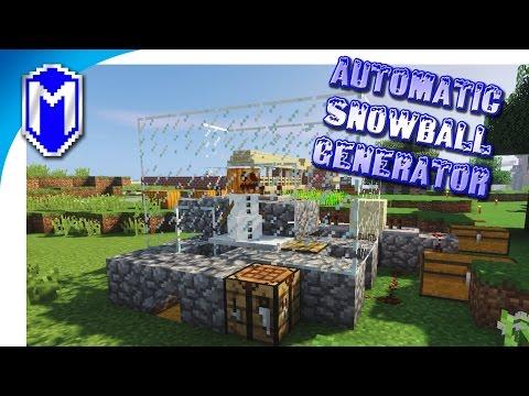 #Minecraft - Automatic Snowball Generator, Snow Machine - Minecraft Obsidian Gate Mod Server Part 3