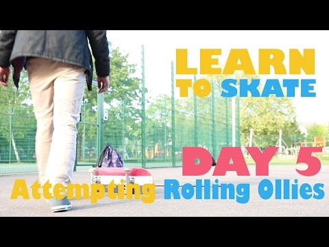 How to Ollie while moving? - Learn to Skateboard Day 5 - 30 year old