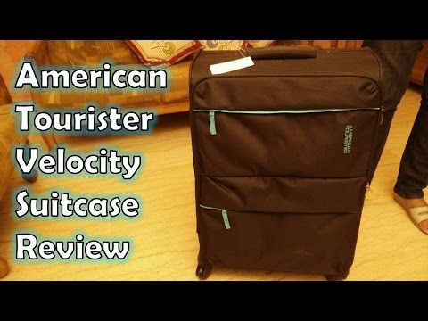 American Tourister Velocity Black Soft sided Suitcase Review | American Tourister Check In Luggage