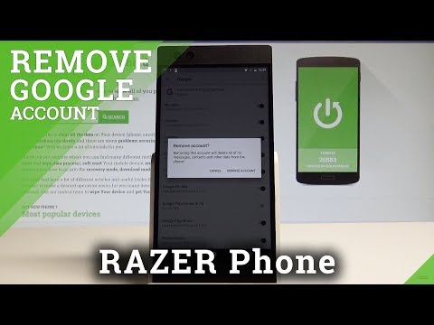 How to Remove Google Account in RAZER Phone - Delete Google Account |HardReset.Info