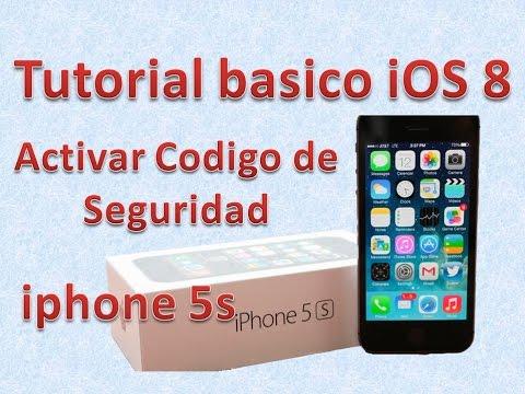 Tutorial y Guía de uso Iphone 5s parte 90 activar o quitar codigo de seguridad
