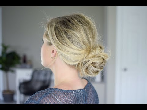 The 2 step bun. It's EASY and FUN.