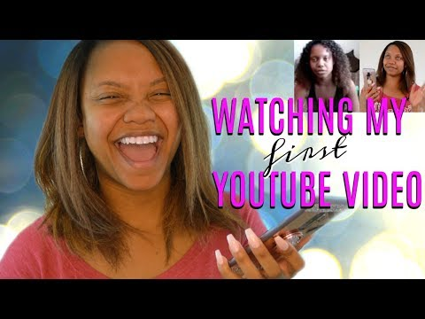 WATCHING MY FIRST YOUTUBE VIDEO   My Honest Reaction
